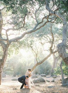 Jen Huang Photography Pronovias Wedding Gown Camellia Floral Design Chiali Meng Artistry Davia Lee Events Oak Grove Wedding in Santa Barbara