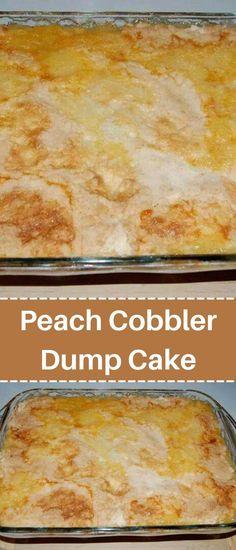 Peach Cobbler Dump Cake – efilres Dump Cake Recipes, Candy Recipes, Fruit Recipes, Dessert Recipes, Cooking Recipes, Dump Cakes, Cake Mix Cobbler, Peach Cobbler Dump Cake, Peach Cobbler Ingredients