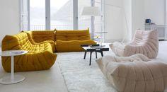 Ligne Roset Togo sofa curry yellow