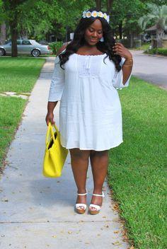 Musings of a Curvy Lady, Plus Size Fashion, Fashion Blogger, Charlotte Russe Plus, Daisy Crown, Women's Fashion