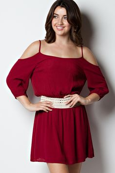 THE ONE I LOVE Burgundy Red Dress Open Shoulder Shop Simply Me Boutique – Simply Me Boutique