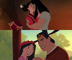 Shang & Mulan one of only two redeeming qualities about the second Mulan movie the other one with Shane's thought to be death