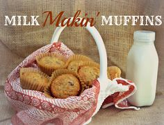 Milk Makin' Muffins are a treat for everyone, but they can be a nursing mom's best friend!  honeysuckleafternoons.com