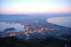 函館市の夜景は有名ですが、朝景を紹介します。