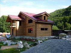Cabana din lemn masiv. Hd stil in colaborare cu www.oncasa.ro