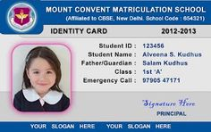 The 7 best student idcard templates images on pinterest card student id card template school id card templates maxwellsz