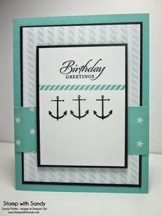 Stamp With Sandy: Sophisticated Sea Street, Sea Street Stamp Set and Maritime DSP, Stampin' Up