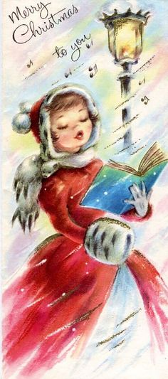Old Christmas Post Cards — Christmas Carols  (487x1100)