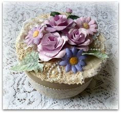Decorative keepsake box  wedding box  jewelry by CarmenHandCrafts