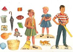 DICK AND JANE FIGURES * 1500 free paper dolls Arielle Gabriel's The International Paper Doll Society #QuanYin5 Twitter QuanYin5 Linked In #ArtrA *