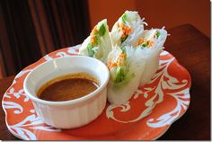 spring rolls with avocado