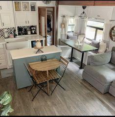 Tiny House Living, Rv Living, Small Living, Rv Interior, Living Room Interior, Rv Homes, Trailer Decor, Camper Makeover, Camper Renovation