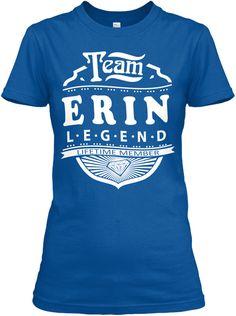 Team Erin Lifetime Member Royal T-Shirt Front