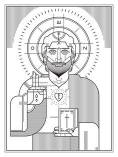 Eastern Orthodox inspired illustration from Ryan Clark