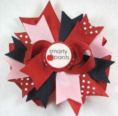 Clearance Boutique Smarty Pants M2MG Bottle Cap by prettybowtique, $5.00 #hair bows # bottle cap hair bow