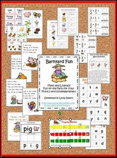 83 pages of math and literacy fun for PreK and kindergarten students!   $