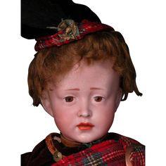 15' Rare Simon Halbig 150 Character in Original Scottish Kilt Costume