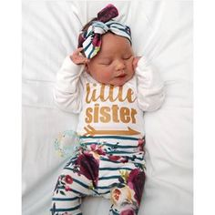 Fantastic baby arrival information are offered on our website. Have a look and you wont be sorry you did. Baby Going Home Outfit, Girls Coming Home Outfit, Our Little Sister, Little Sisters, Newborn Girl Outfits, Toddler Outfits, Baby Girl Fall, Baby Winter, Fantastic Baby