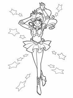 Sailor Jupiter Printable Adult Coloring Pages For Girls Disney