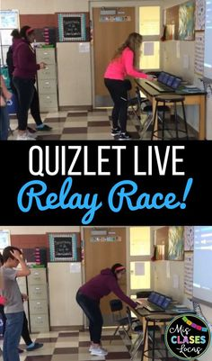 Inside: get your students moving with Quizlet Live relay races in any class Middle School Classroom, Spanish Classroom, Middle School Science, Teaching Spanish, 7th Grade Science, Flipped Classroom, Spanish Teacher, Future Classroom, Classroom Games