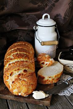 Dessert Drinks, Dessert Recipes, Bread Recipes, Cooking Recipes, Bread And Pastries, Challah, Bread Rolls, How To Make Bread, Bakery