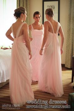 the back !  bridemaid dresses