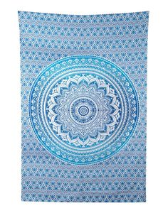 Turquoise and White Blue Tapestry Wall Hanging Mandala Tapestries Indian Cotton Bedspread Blanket Beach Towel… *** Details can be found by clicking on the image. (This is an affiliate link) #Tapestries