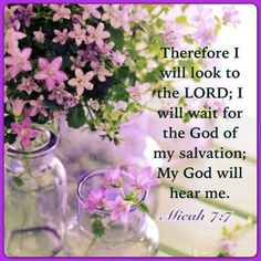 Read More About Therefore I will look to the LORD; I will wait for the God of my salvation; My God will hear me. Biblical Quotes, Scripture Quotes, Encouragement Quotes, Bible Scriptures, Give Me Jesus, God Jesus, Jesus Christ, Christian Life, Christian Quotes