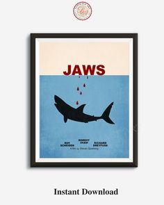 Jaws film quote dictionary page quotes art print reading books  poster