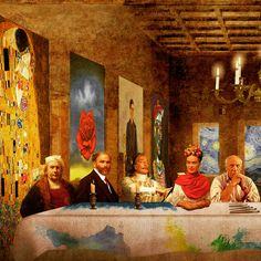 ART SUPPER (swipe ) Happy World Art Day  from left to righ