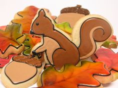 Squirrel shaped decorated cookie - Google Search