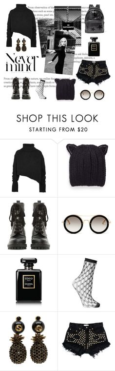 """""""never mind"""" by daniellededwards ❤ liked on Polyvore featuring Ann Demeulemeester, Eugenia Kim, RED Valentino, Elie Saab, Chanel, Falke, Gucci, Levi's and STELLA McCARTNEY"""