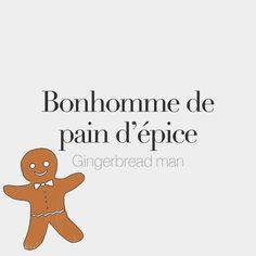 Bonhomme de pain d'épice (masculine word) | Gingerbread man | /bɔ.nɔm də pɛ de.pis/ Drawing: @beaubonjoli.