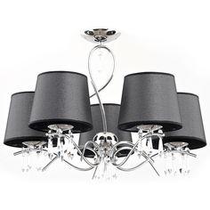 Lampa wisząca zwis Alfa Baron czarna, chrom - wysyłka w Baron, Chandelier, Ceiling Lights, Led, Lighting, Stylish, Metal, Vintage, Design
