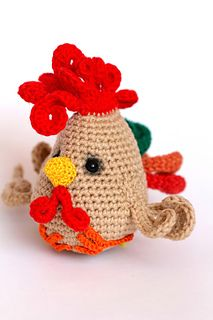 Funny Cock - free crochet pattern in English or German by Ermak Elena.
