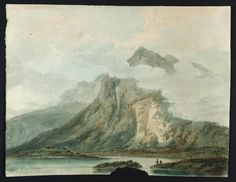 Ch.IX The Grand Tour - Joseph Mallord William Turner, Thomas Girtin 'A Lake in the Pass of Mount Cenis