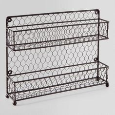 One of my favorite discoveries at WorldMarket.com: Wire Two-Tier Spice Rack