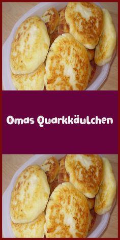 Omas Quarkkäulchen Ingredients 500 g jacket potatoes 500 g lean quark 150 g flour 1 egg (s) oil or lard Preparation The potatoes through the pr … Keto Snacks, Yummy Snacks, Yummy Food, Baking Recipes, Dessert Recipes, Desserts, Cheese Dessert, Low Calorie Recipes, Finger Foods