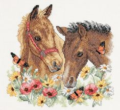 Horse Cross Stitch And Needlework Patterns.    /So cute EL./
