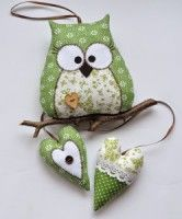 Owl Fabric, Fabric Toys, Fabric Crafts, Sewing Toys, Sewing Crafts, Sewing Projects, Felt Owls, Felt Birds, Owl Card