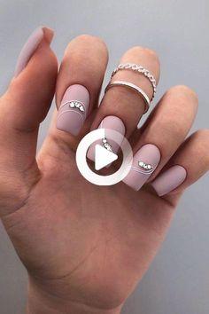 Square Nail Designs, White Nail Designs, Nail Art Designs, Bridal Nails, Wedding Nails, Square Acrylic Nails, Short Square Nails, French Manicure Nails, Nails Design With Rhinestones