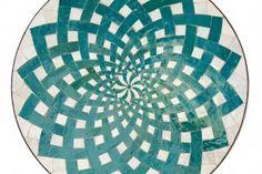 Mosaiktisch grün