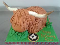 Pretty Picture of Cow Birthday Cake . One Year Birthday Cake, Themed Birthday Cakes, 3rd Birthday, Birthday Ideas, Cow Cupcakes, Cupcake Cakes, 21st Cake, Cake Youtube, Crazy Cakes