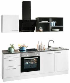 Küche 210 Cm Mit Geräten   Kuchenzeile Ohne E Gerate Optifit Odense Breite 270 Cm Odense