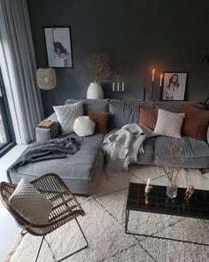 Cozy living room ideas and design 00036 ~ Home Decoration Inspiration Casual Living Rooms, Cozy Living Rooms, Home Living Room, Living Room Decor, Decor Room, Home Decor, Room Interior, Interior Design Living Room, Living Room Designs