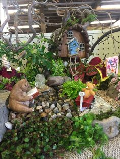 Just bee happy fairy garden by Kristin Middleton