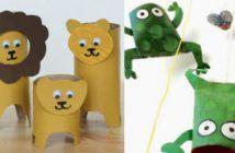 Maak deze lieve diertjes met als basis rollen toiletpapier! Die hebben we allemaal wel ergens liggen toch?