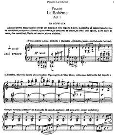 La Boheme sheet music (1200×1414):