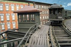 elevated train curved track | NEW !! O-Scale EL Trackwork and detail scenes on the NYC Model Transit ...