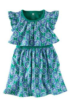 Tea Collection 'Peacock Tile' Play Dress (Baby Girls) available at #Nordstrom